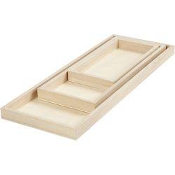 Trays, L: 20+30+40 cm, W: 10+15+15 cm, 3pcs