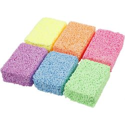 Soft Foam, Assorted Colours, 6 x 10 g