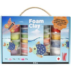 Foam Clay® Set, Assorted Colours with Modeling Tools, 1 set
