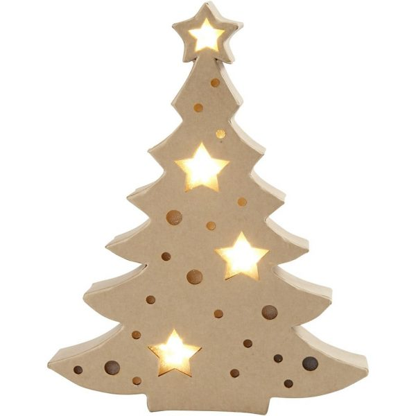 Papier Mache Christmas Tree