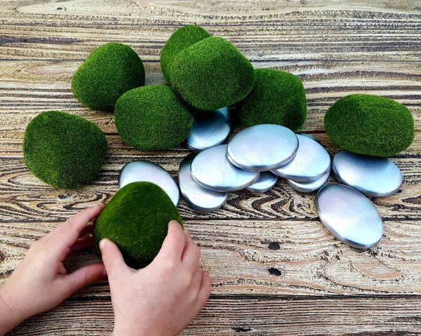 Artificial Moss Stones