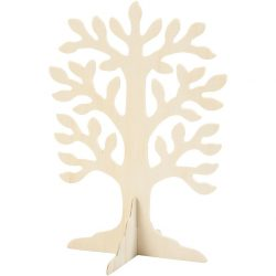 Tree, Size 30 x 21.5 cm, Thickness 2 mm, Plywood, 1 pc