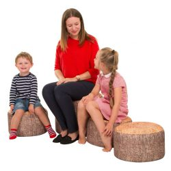 Pack of 4 Learn about Nature Teacher Tree Stump Stools