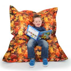 Learn about Nature Autumn Leaves Children's Bean Bag Floor Cushion