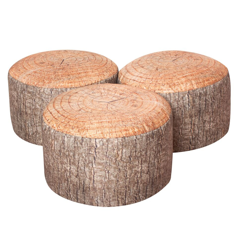 Pack Of 3 Learn About Nature Tree Stump Stools Bambino
