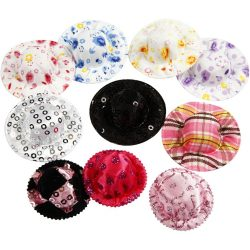 Mini Hats, D: 4 cm, assorted colors, 10 pcs