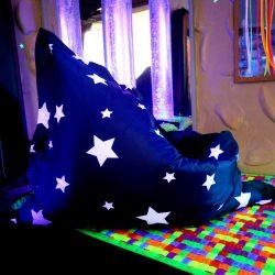 Star Print Childrens Bean Bag Floor Cushion Large