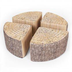4 Pack: Quarter Footstools Tree Print