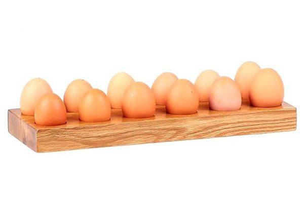 Egg Holder for 12 Eggs - Oak