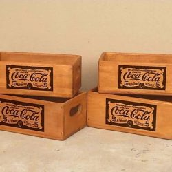 Set of 4 Rectangular Boxes – Coca Cola