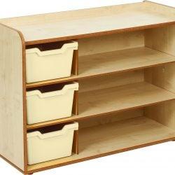 3 Tray & Shelves Maple