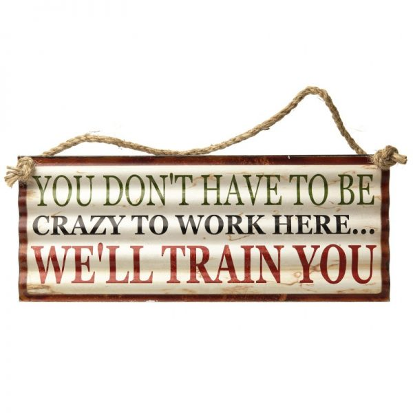we'll train you plaque