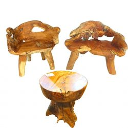 Teak Root Chairs and Table