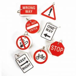 Mix of 8 Traffic Sign Key Ring  Notebook